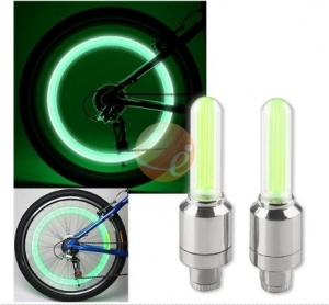 {Stocking Stuffers} Bike Valve Light Cap: For the night rider (not the from the 80s), bike lights are a must for street safety. But that doesn't mean the lights have to look lame. These LEDs tighten onto your tire valve, but make your whole wheel glow when you ride. At under $5, you can't beat that! Click through for more ideas.