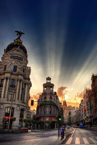 Madrid. Gran via, down the street from where I used to live. Sigh.