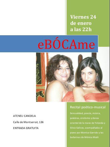 EBÓCAme - Recital poètic - musical amb Yolanda y Sílvia Gelices i amb la intervenció de Dámaris Llaudis.