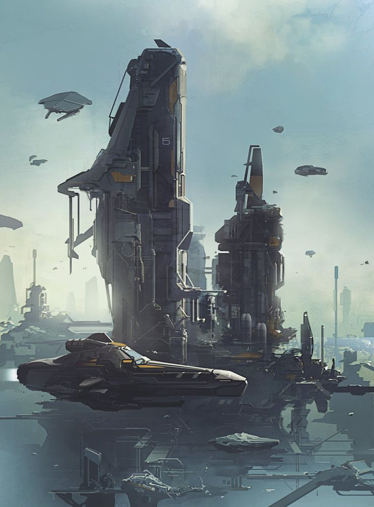 Concept Art City Environment Design Scenes Futuristic Architecture Of Modern Fantasy Science Fiction Sci Fi Sci Fi Concept Art Sci Fi Art Science Fiction Art