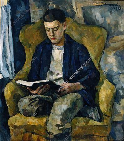 Portrait of Pyotr Konchalovsky, the son of the artist, 1921  Pyotr Konchalovsky