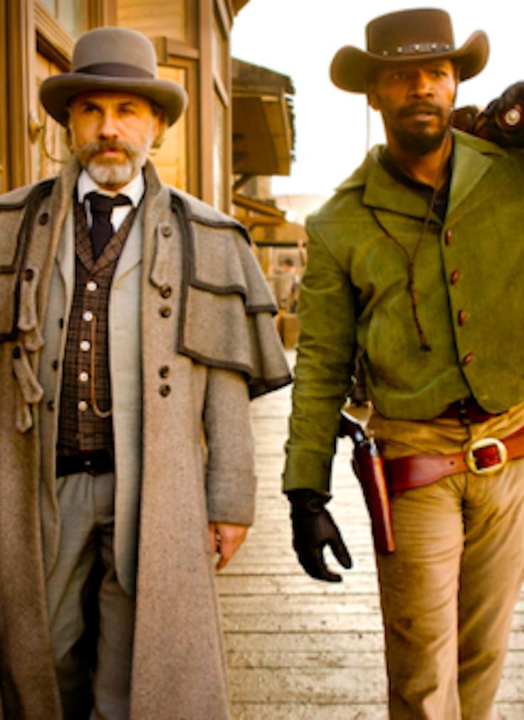 Christopher Waltz's coat is gold. Django's outfits were geeeeenius.