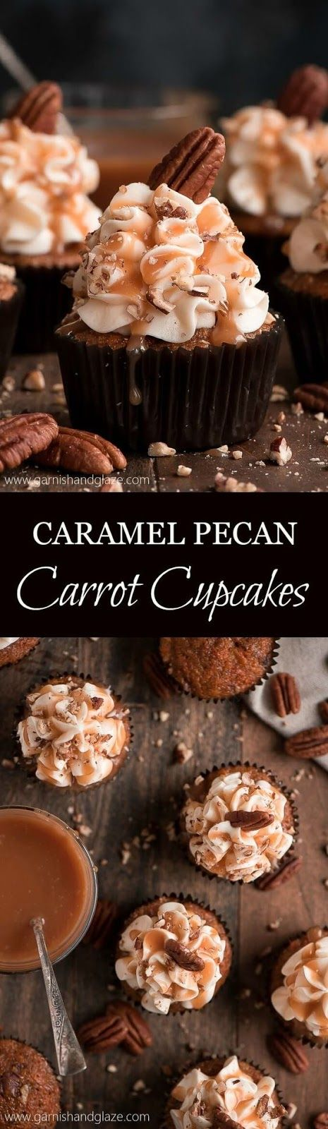 CARAMEL PECAN CARROT CUPCAKES | Food And Cake Recipes