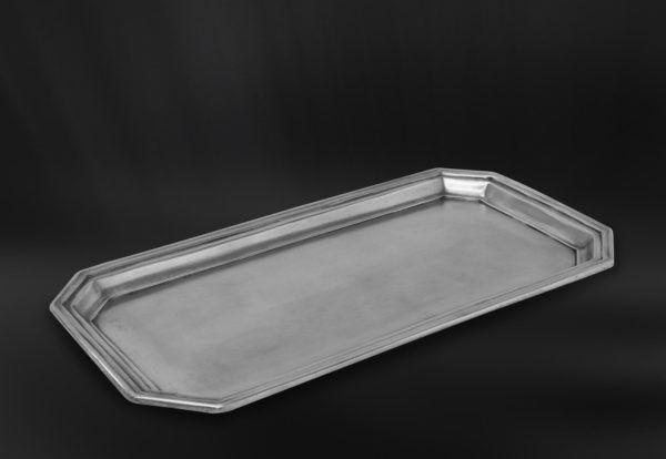Pewter Vanity Tray - Length: 41,5 cm (16,3″) - Width: 21,5 cm ( 8,5″) - #pewter #vanity #tray #peltro #vassoio #porta #salviette #zinn #tablett #servietten #étain #etain #plateau #vanité #peltre #tinn #олово #оловянный #gifts #giftware #bath #bathroom #accessories #badaccessoires #accessori #bagno #home #housewares #homewares #decor #design #bottega #peltro #GT #italian #handmade #made #italy #artisans #craftsmanship #craftsman #primitive #vintage #antique