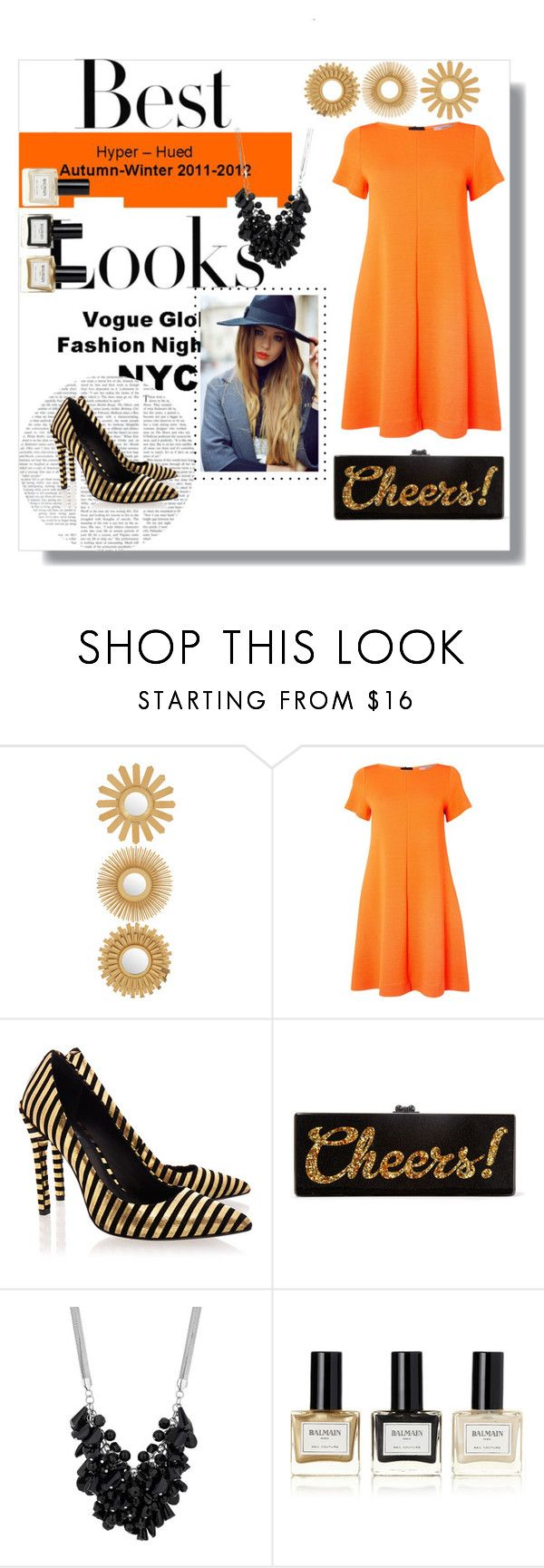 """A Clockwork Orange ✌️"" by violin-player-12 ❤ liked on Polyvore featuring MML, Marella, Rachel Zoe, Edie Parker, Betty Jackson, Balmain, women's clothing, women's fashion, women and female"