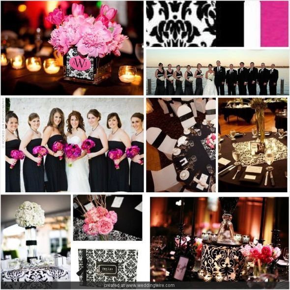 Hot Pink Black And White Wedding Theme - drivecheapusedmotorhomeinfo