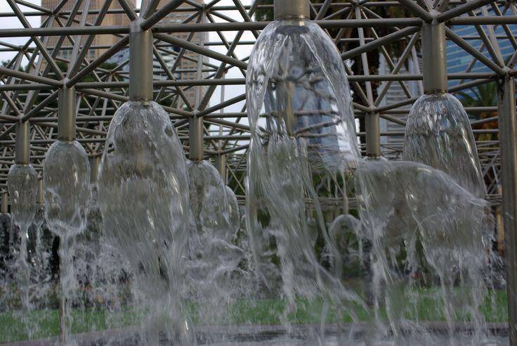 Water Fountains, Near Parliament House & Gardens, Melbourne Architecture & Design. Photo by Rodney Cheuk & Tamara Desiatov 2014