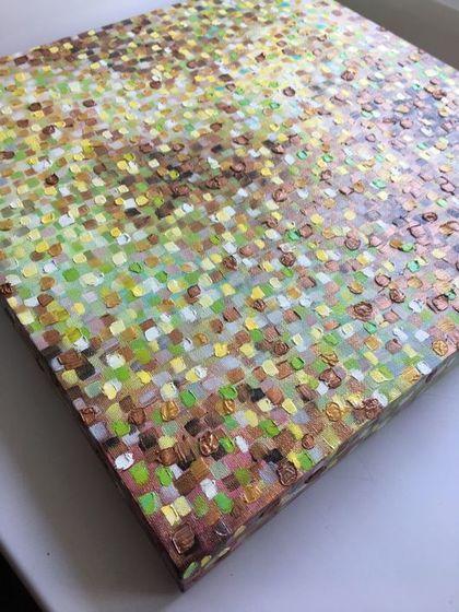 Купить или заказать Интерьерная картина с 3Д краем в интернет-магазине на Ярмарке Мастеров. Картина состоит из тысячи объемных мазков нескольких оттенков. Оттенки взяты из тематики растительности. Картина имеет 3д край или галерейную натяжку холста. Рама не требуется.
