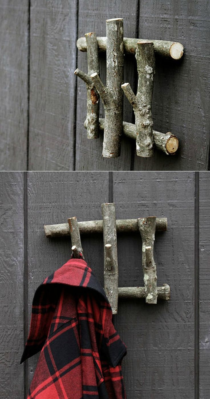 Build this simple hanger from recycled wood and lend it