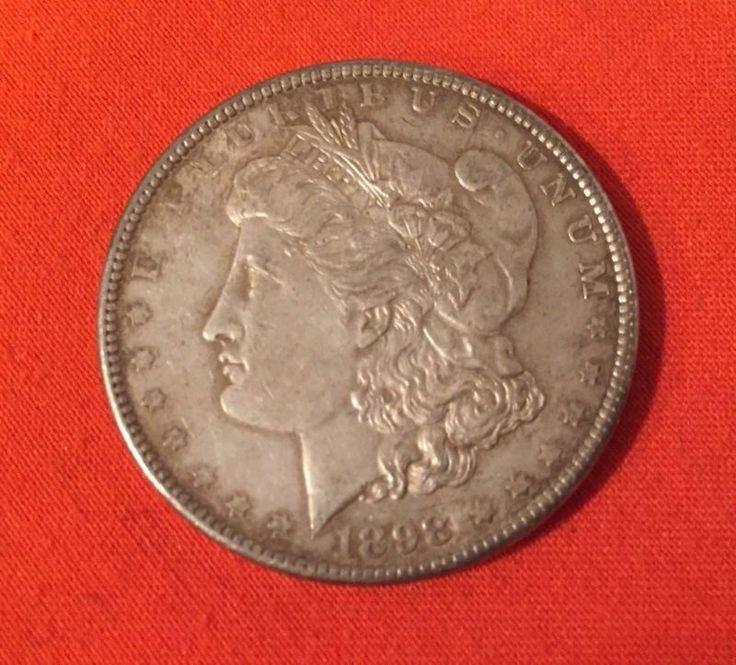 1898 MORGAN SILVER DOLLAR, 90% Silver You will receive the exact coin as shown in the photographs. This beautiful Morgan Dollar in very good condition... #nice #very #dollar #silver #morgan