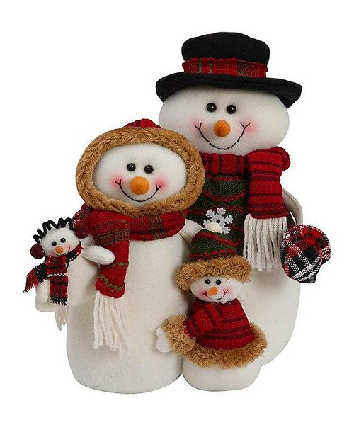 Look at this Snowman Family Décor on #zulily today!
