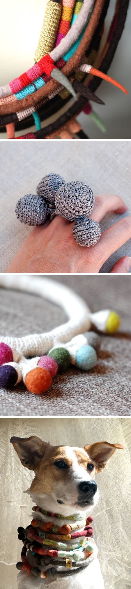 great combination of crochet, felting and wrapping!