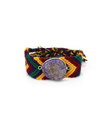Wayuu Armband met Edelsteen 109 - €39,95