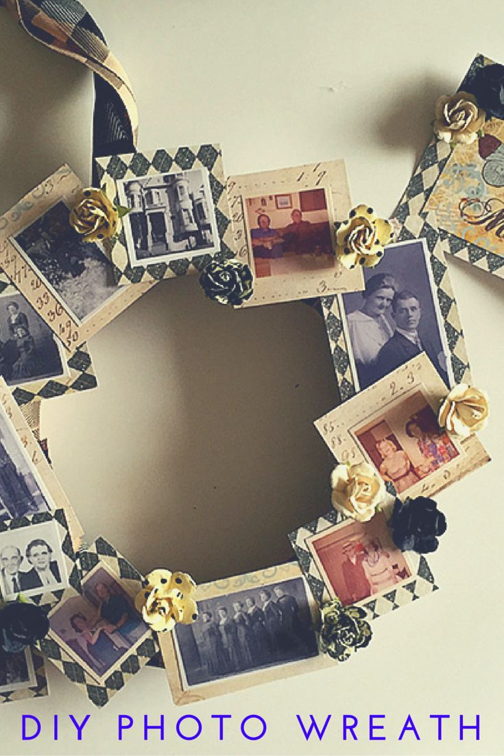 Diy Family Photo Display Click On Image To See More Home: Create This DIY Family Tree Photo Wreath Using Vintage