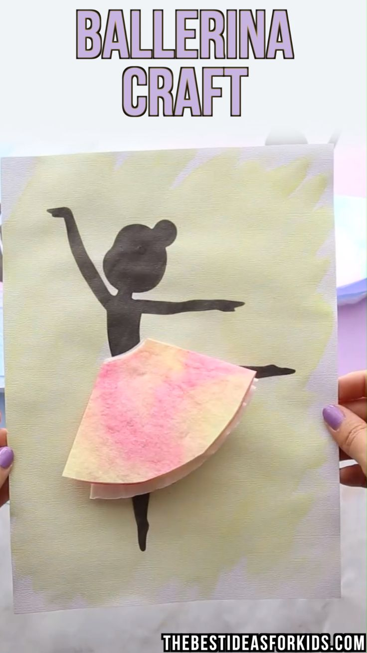 DIY Craft: BALLERINA CRAFT - this simple ballerina craft is so fun to make! Grab the printable template on the post and then paint or color some coffee filters. <a class=