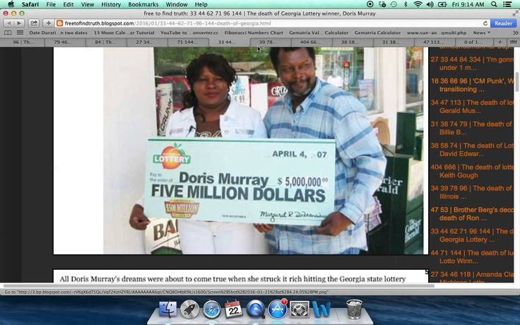 The deaths of recent lottery winners & the Robinson Powerball winners coming deaths