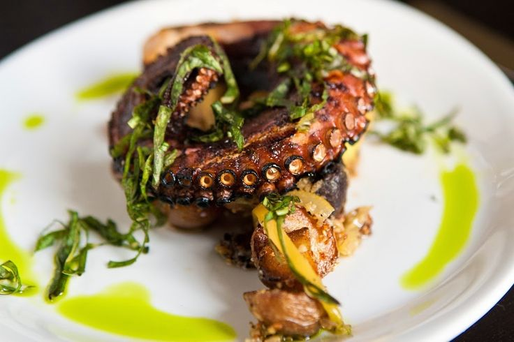 - Grilled octopus on the charcoals !