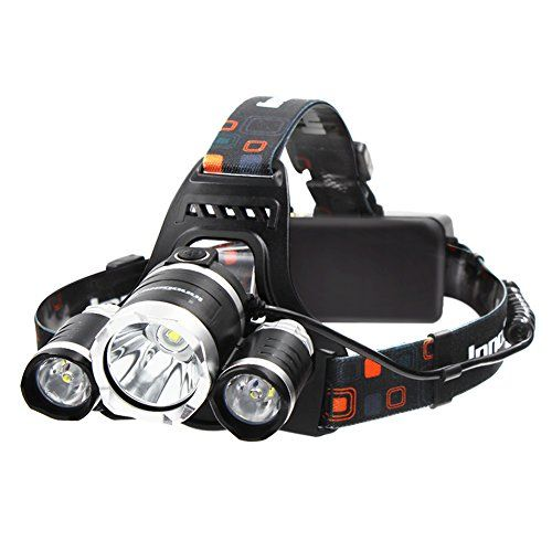 InnoGear 5000 Lumens Headlamp LED Flashlight Bright Headlight Torch with Rechargeable Batteries and Wall Charger for Hiking Camping Riding Fishing Hunting. For product info go to:  https://all4hiking.com/products/innogear-5000-lumens-headlamp-led-flashlight-bright-headlight-torch-with-rechargeable-batteries-and-wall-charger-for-hiking-camping-riding-fishing-hunting/