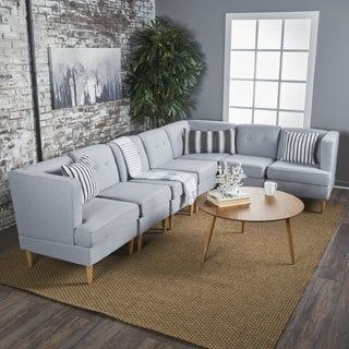 Shop for Carson Carrington Larvik Mid-century Modern 7-piece Fabric Sectional Sofa Set. Get free shipping at Overstock.com - Your Online Furniture Outlet Store! Get 5% in rewards with Club O! - 24003340