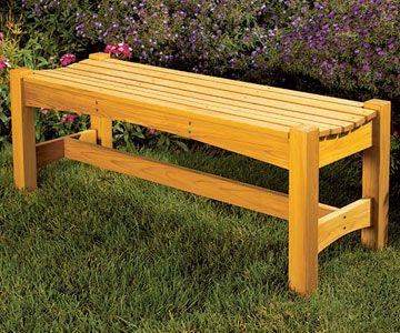 Simple Garden Bench Design diy wooden bench plans Buy Garden Bench Woodworking Plan At Woodcraft