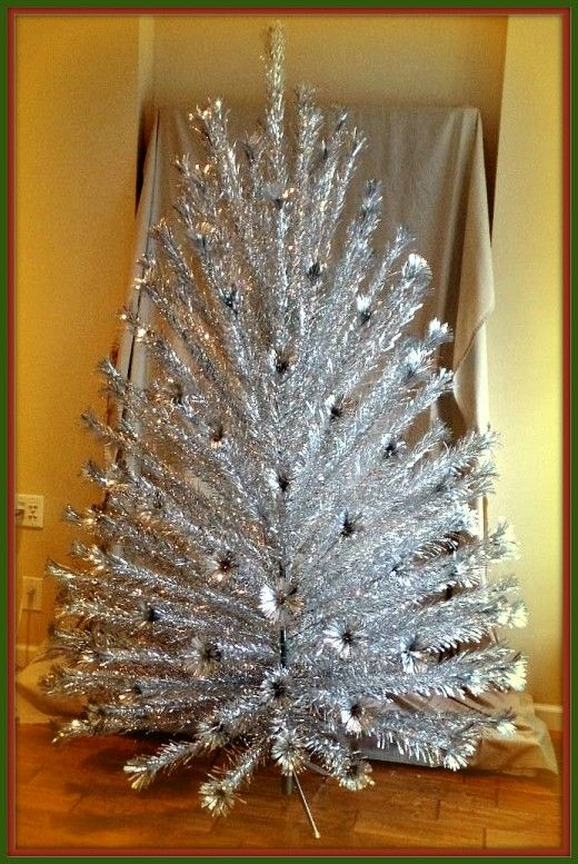 christmas with vintage aluminum christmas trees - Vintage Silver Christmas Tree
