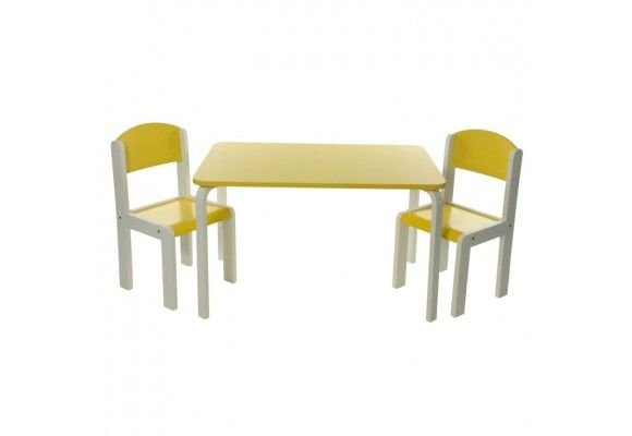 Kindertafelset Fabio XL - Geel