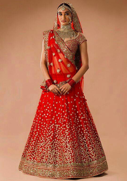 Sabyasachi red bridal lehnga 2016