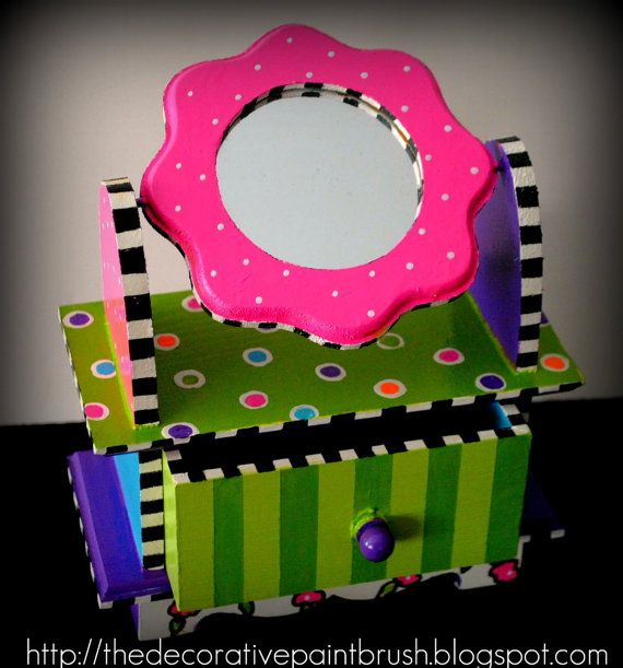Painted Jewelry Box by TheDecorativeBrush on Etsy