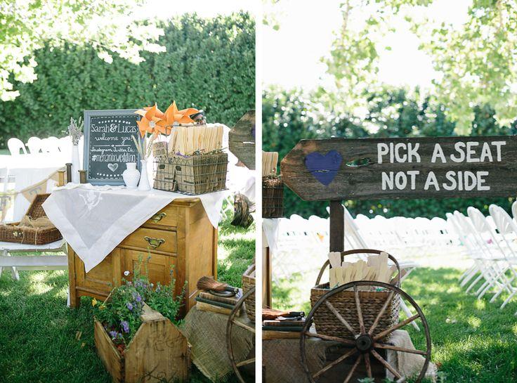 DIY Backyard BBQ Wedding Ceremony