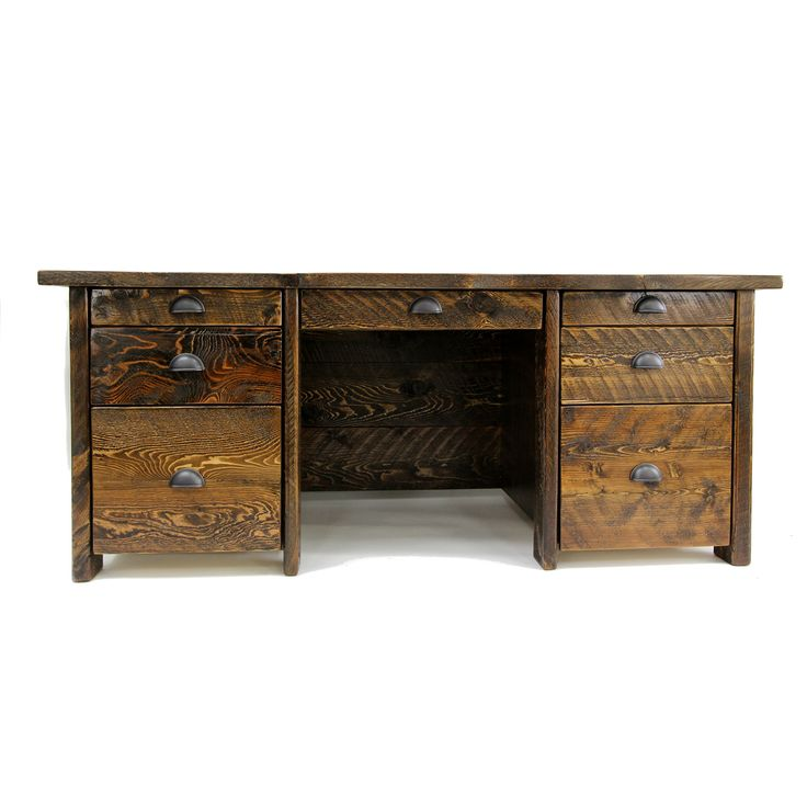 Barnwood Large Executive Desk. Modern Rustic office piece