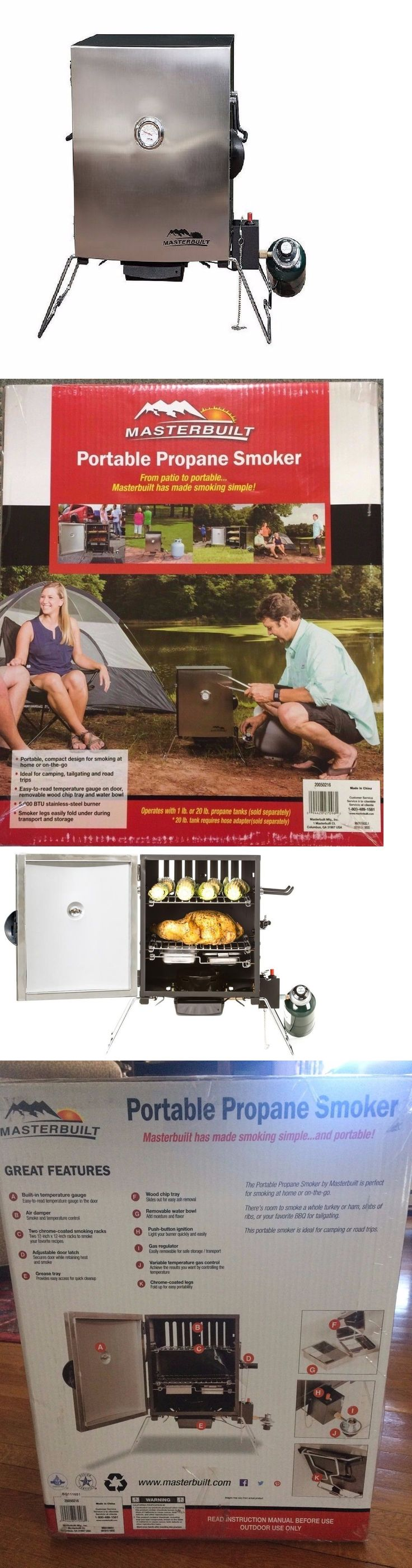 Barbecues Grills and Smokers 151621: Masterbuilt Portable Propane Smoker In Stainless Steel Brand New!! -> BUY IT NOW ONLY: $75 on eBay!