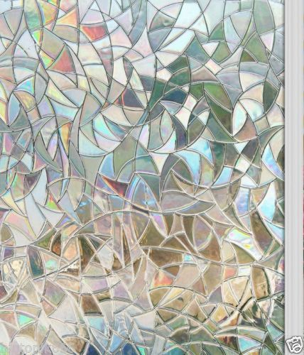 New Window Film 3d View Frosted Stained Glass Static Cling