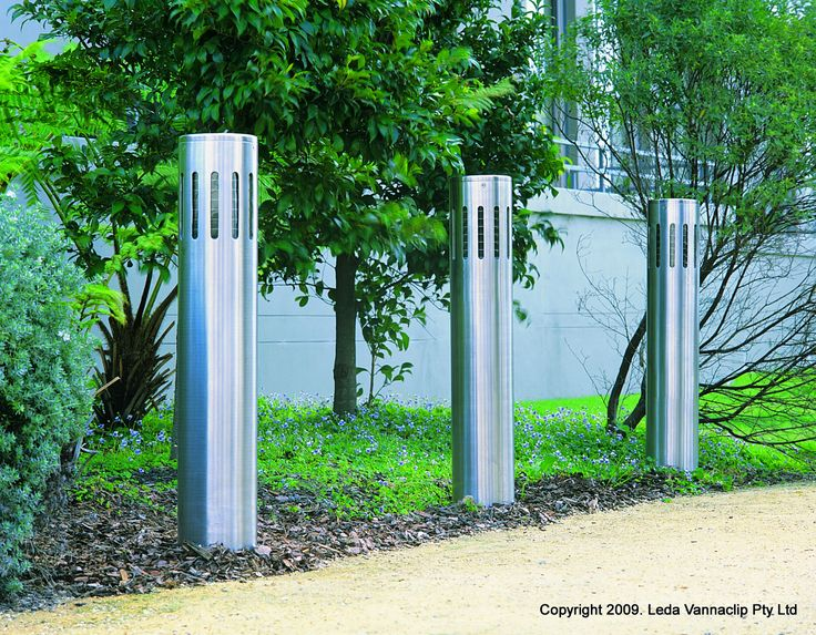 Slimline lighting bollards with anti vandal qualities: some of the toughest lighting bollards available for vandal prone area's.