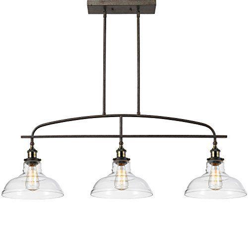 Kitchen Pendant Light Fixtures Amazon Com: Ecopower Kitchen Linear Island Pendant Light Vintage Lamp