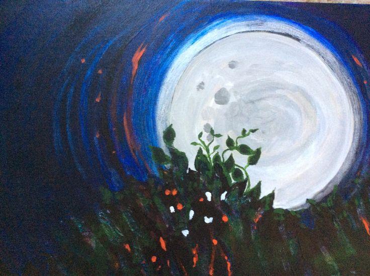 Super Moon. ( Acrylic )