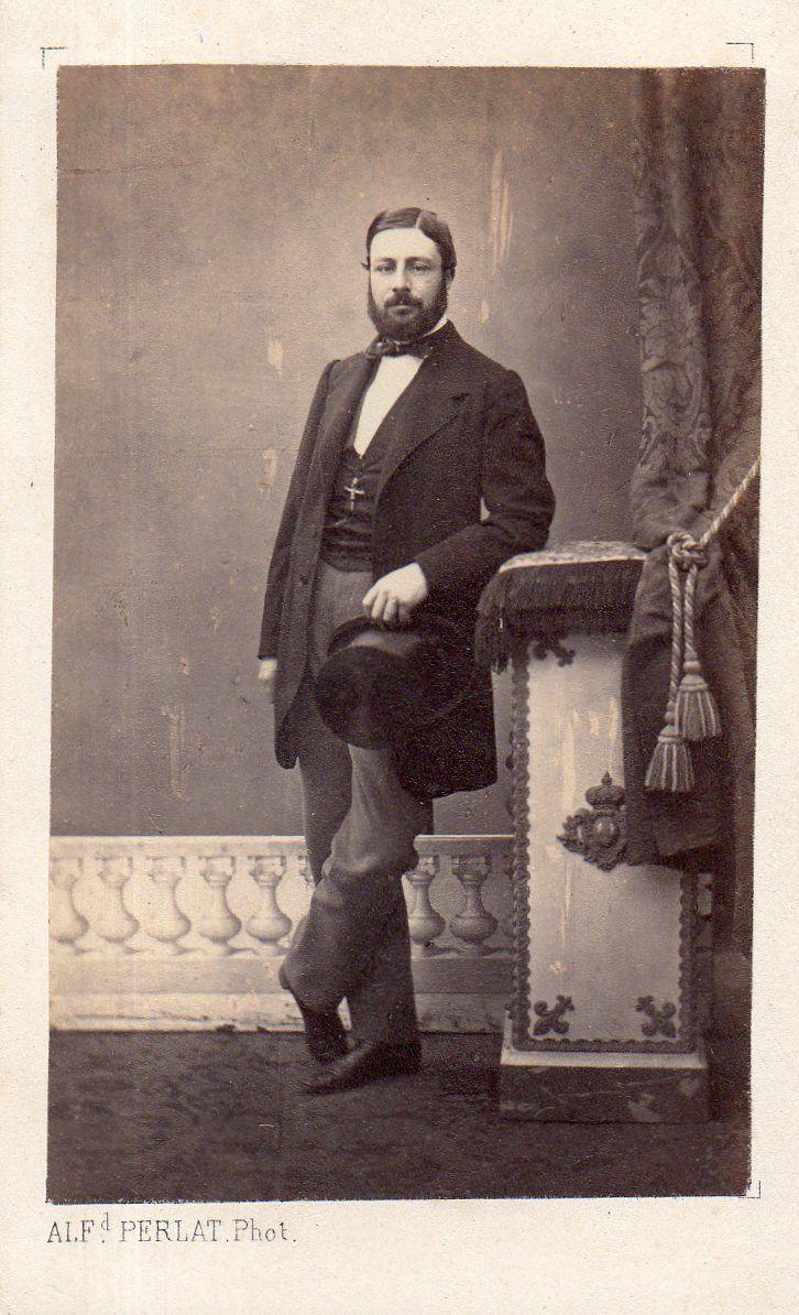 Carte De Visite Cdv Albumine Albumen Alfred Perlat Poitiers Homme Mode
