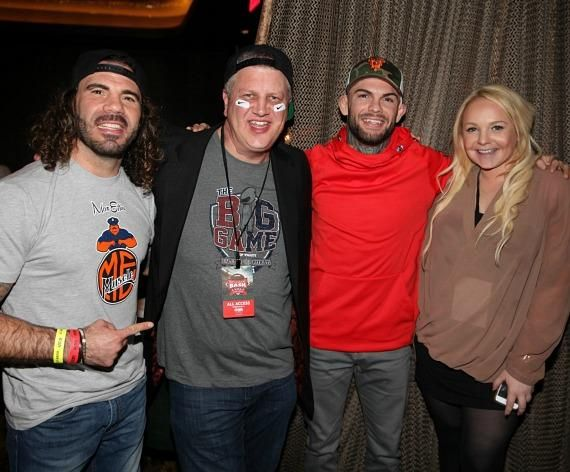 Clay Guida, Derek Stevens, Cody Garbrandt and Whitney Godard at Andiamo Las Vegas
