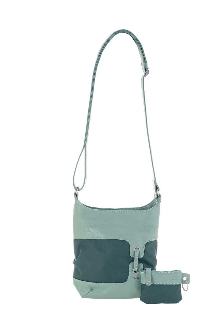 Frauentaschen :: BONJOUR :: B8 | ZWEI Taschen Handtasche :: Nylon :: Materialmix