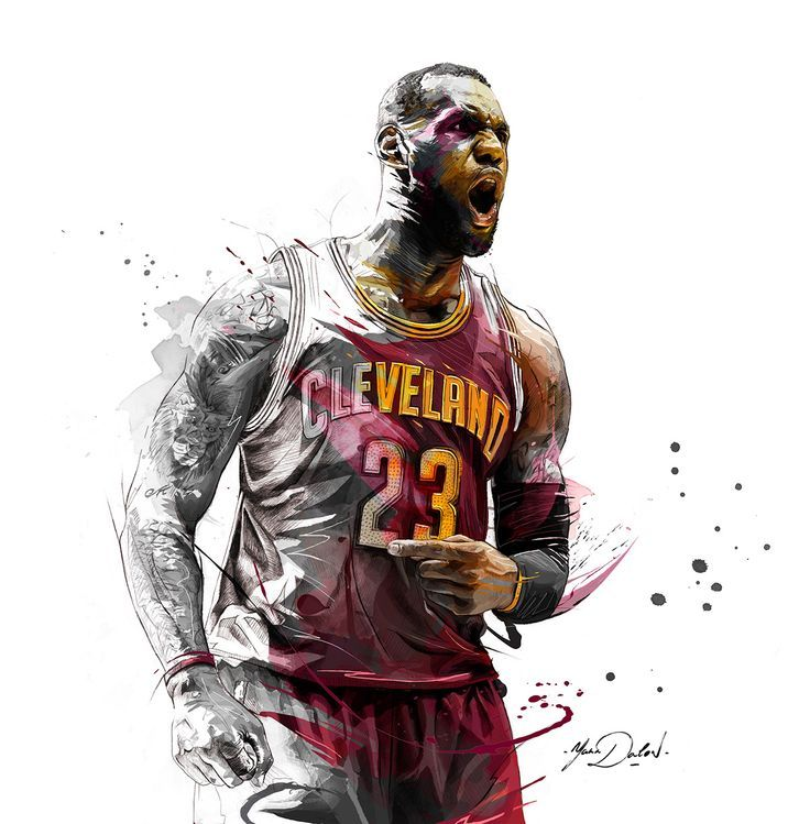 LeBron James Living Color Painting