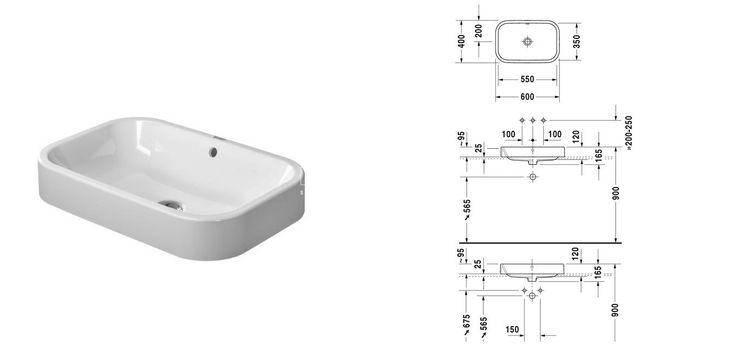 Umywalka stawiana Duravit Happy D.2 WonderGliss 23146000001 - Umywalki - wyposażenie wnętrz Max-Fliz