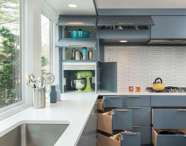 appliance garage and corner drawers houzz Midcentury