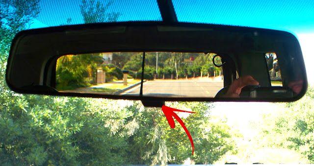 Fungsi sebenarnya suis yg berada pada cermin pandang belakang kereta!  #faktakereta #rearmirror