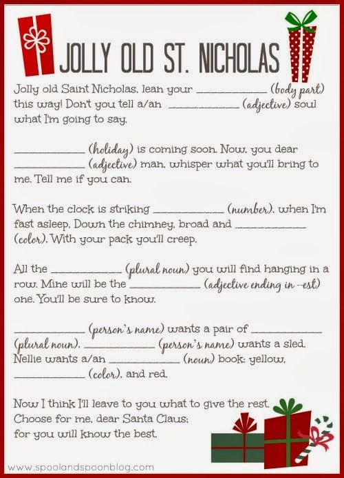 PRINTABLE Christmas Carol Mad Libs by Spool and Spoon for Sumo's Sweet Stuff