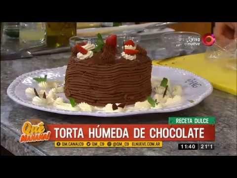 Receta dulce: torta húmeda de chocolate