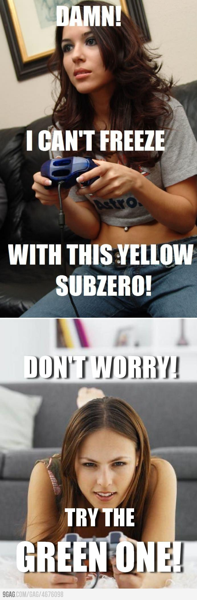 Not HOT know the difference between scorpion and subzero bitches!!!