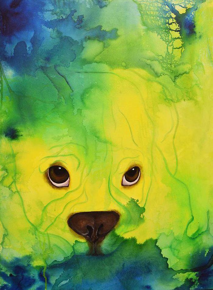 Bulldog Expression no.4 af Vivi Amelung (60 x 80 cm)
