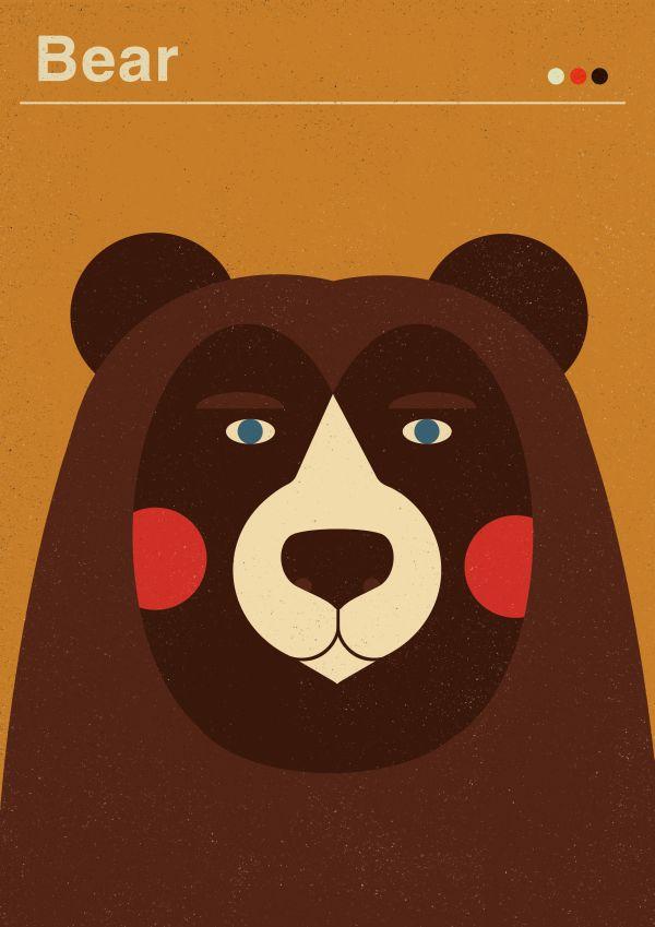 posters for kids | etsy by Dawid Ryski, via Behance