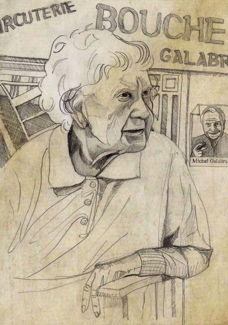 Madame Galabru de Saint Bauzille (crayon) ©Antoine Digout