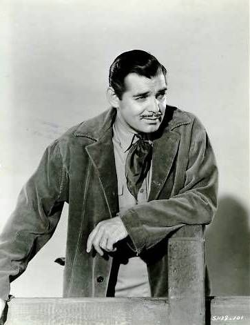 Clark Gable for Boom Town (1940). After the film, fans sent Gable miniature oil derricks, nearly 500 pictures of old gushers and old boom towns, samples of crude oil in every conceivable type of bottle and flask and container, books about oil, souvenirs from famed oil fields and wells, nearly tons of oil shale, paper-weights and other gadgets made from old oil-well machinery, bales of fancy oil stock, watch charms, newspapers and such things.