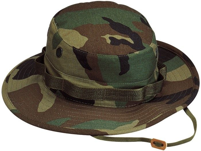 a6ca11c479b82 Woodland Camouflage Military Wide Brim Boonie Hat in 2019